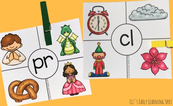 Get the hang of beginning consonant blends with these free beginning blends clip cards!
