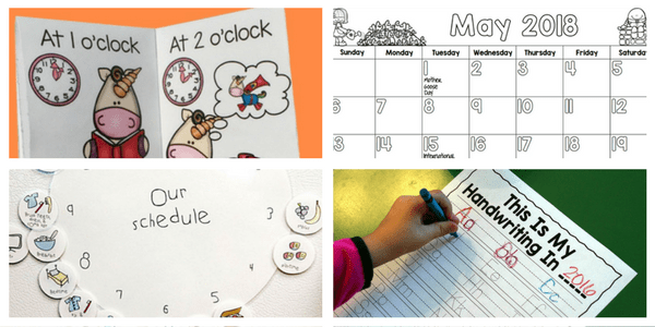 Free activities about time and schedules for young children!