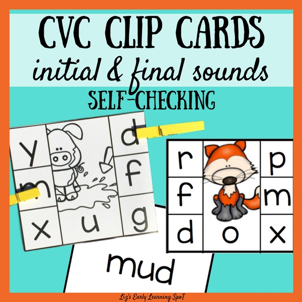 There are 90 colour and 90 black and white CVC self-checking clip cards for beginning and final sounds in this hands-on pack!