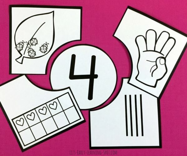 Grab these free colour and black and white number puzzles, then just print and cut and your kids will be ready to go!