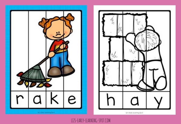24 free fall word puzzles in both colour and black and white!