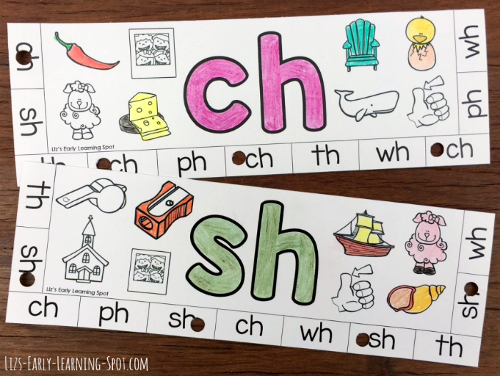 Learn about digraphs with these free beginning digraphs punch cards!