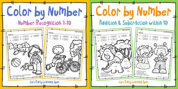 Check out these color by number - recognition, addition and subtraction activities!
