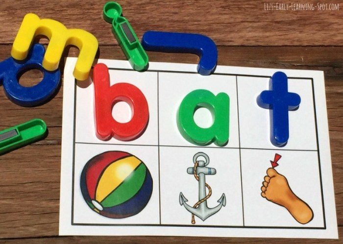 Have fun practicing beginning sounds and CVC words with these free magnetic letters cards!