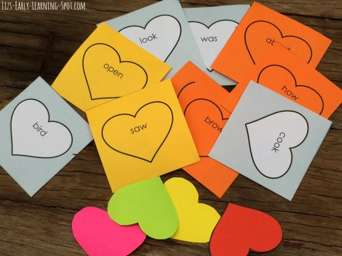 Practice reading and writing with this free editable sight words Valentines activity.