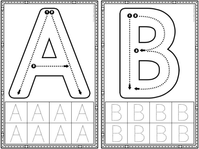 These simple letter formation cards are an effective way for kids to practice writing correctly!