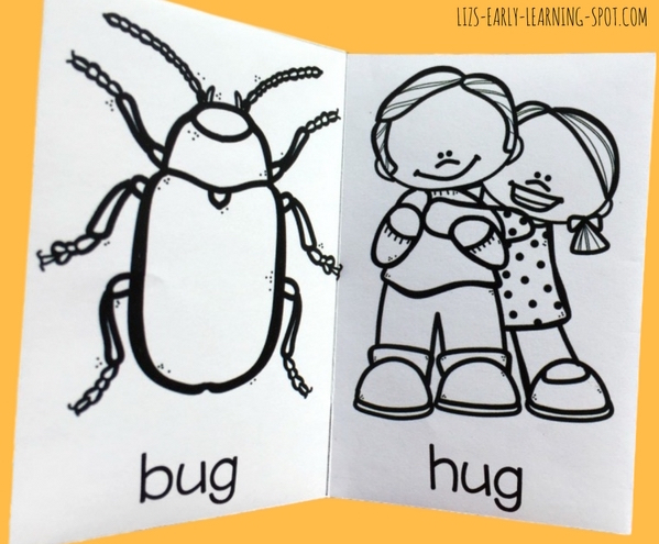 These free little CVC books are an easy way to practice _ad and _ug word families!