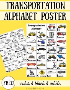 Transportation Alphabet Posters