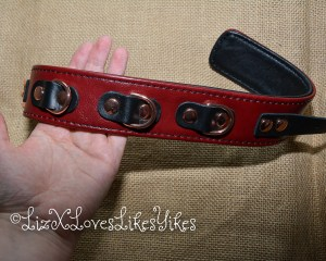 Review of Liebe Seele Wine Red Leather Collar with Leash, Rose Gold Metal Hardware  Copyright Liz BlackX