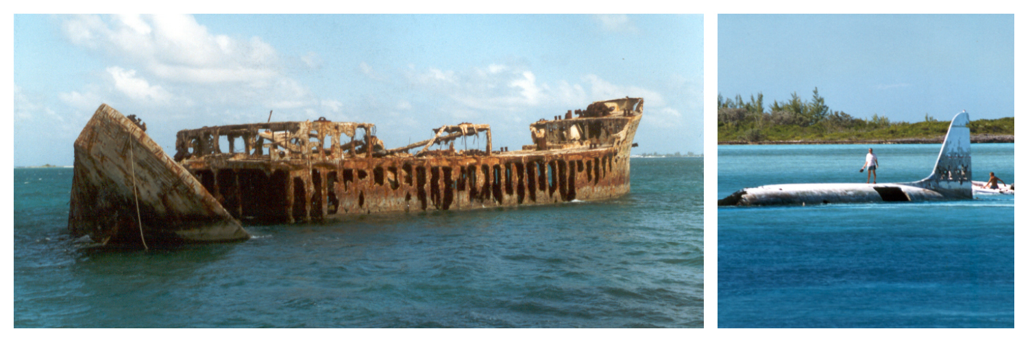 Sapona Wreck and Normans Cay Bahamas 1996