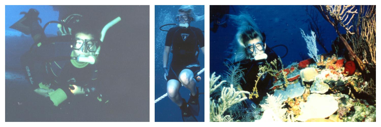 bahamas 1996 liz underwater