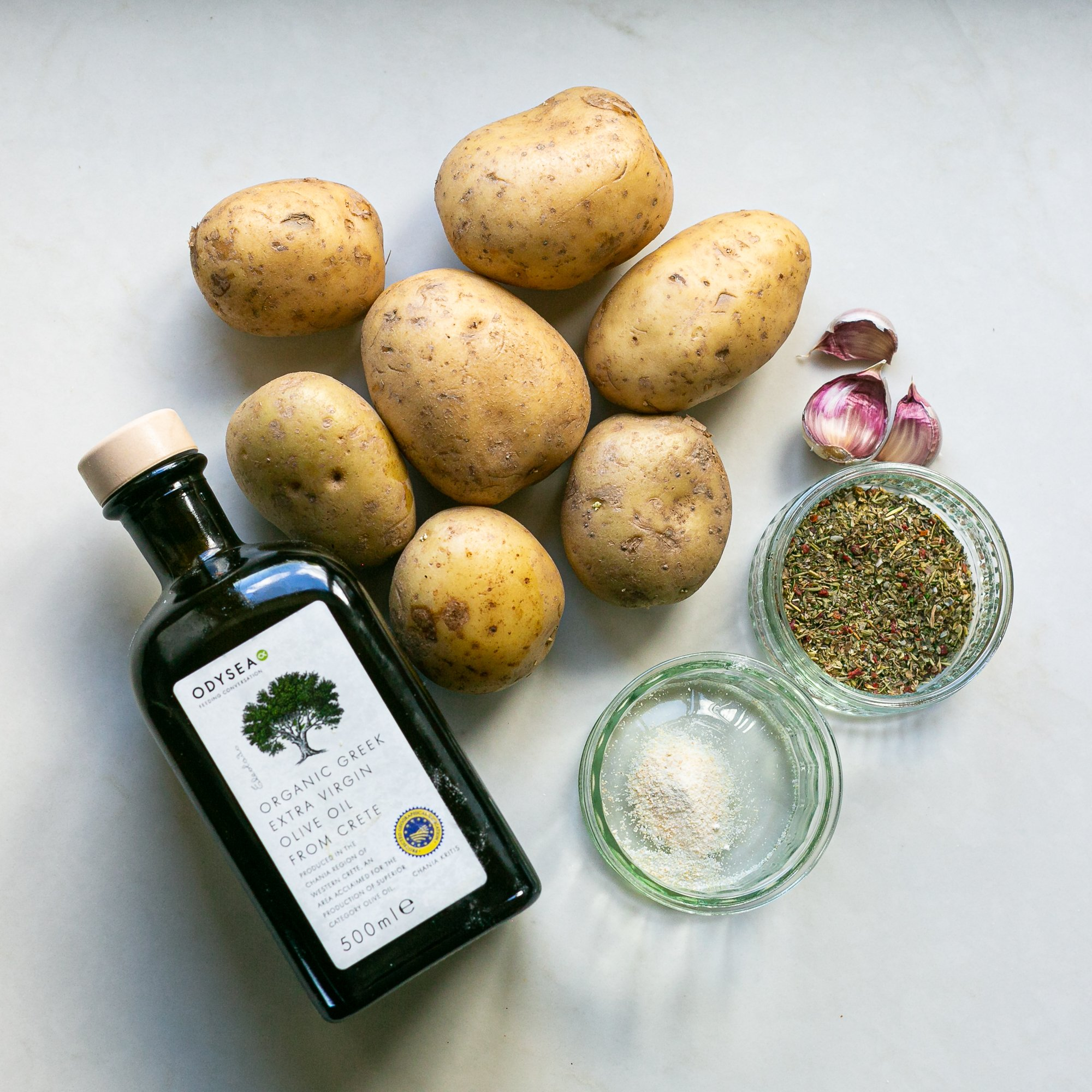 ingredients for easy homemade oven chips