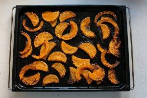 roasted squash on a baking sheet