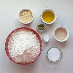 all the ingredients needed for maneesh bread