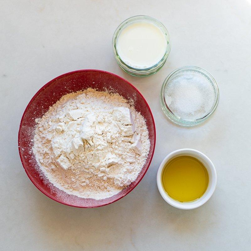 Ingredients for flatbread