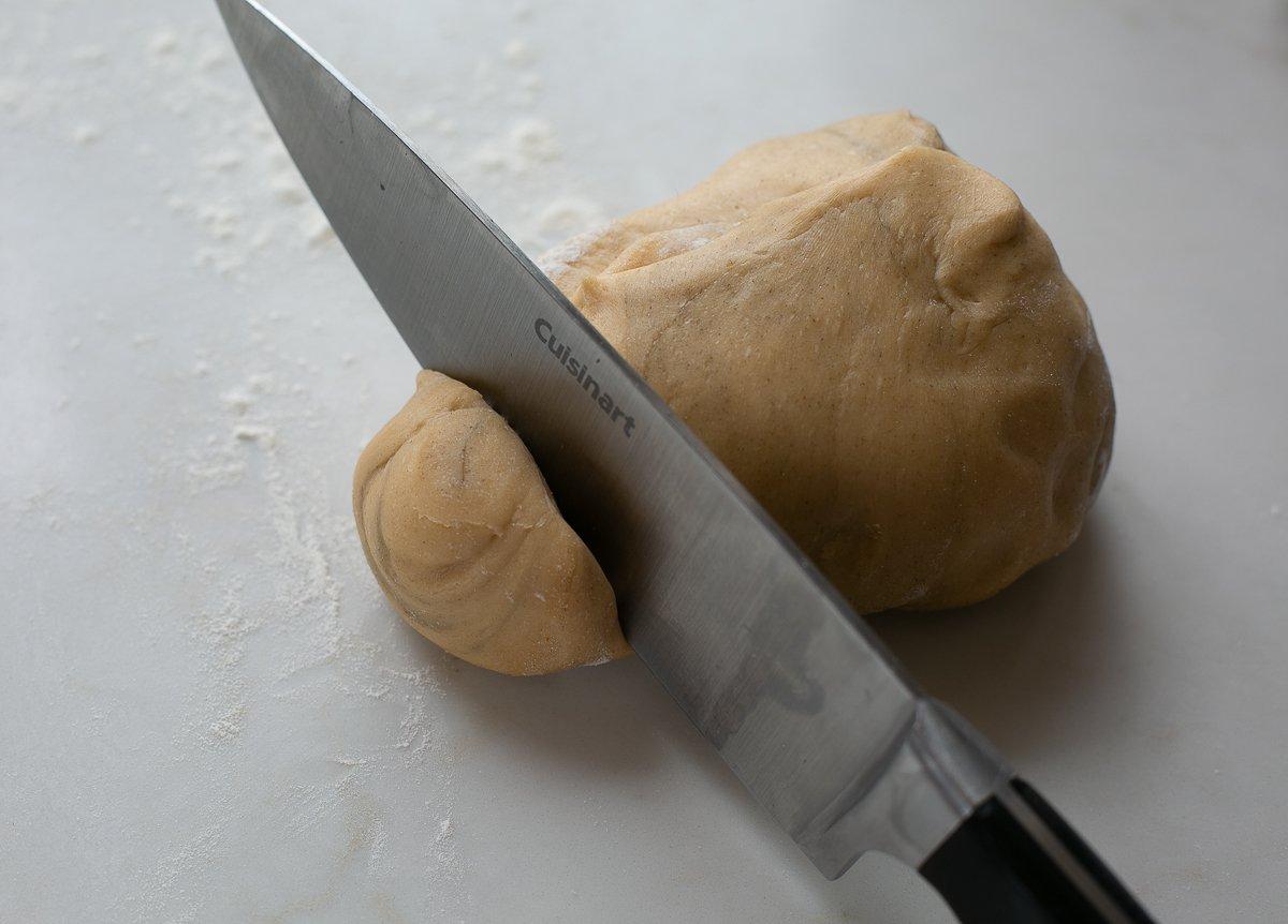 fresh pasta dough ready to shape