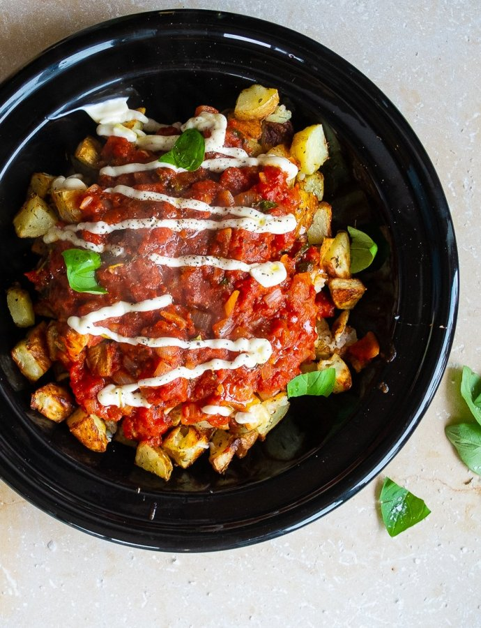 Easy Patatas Bravas (spicy spanish potatoes)