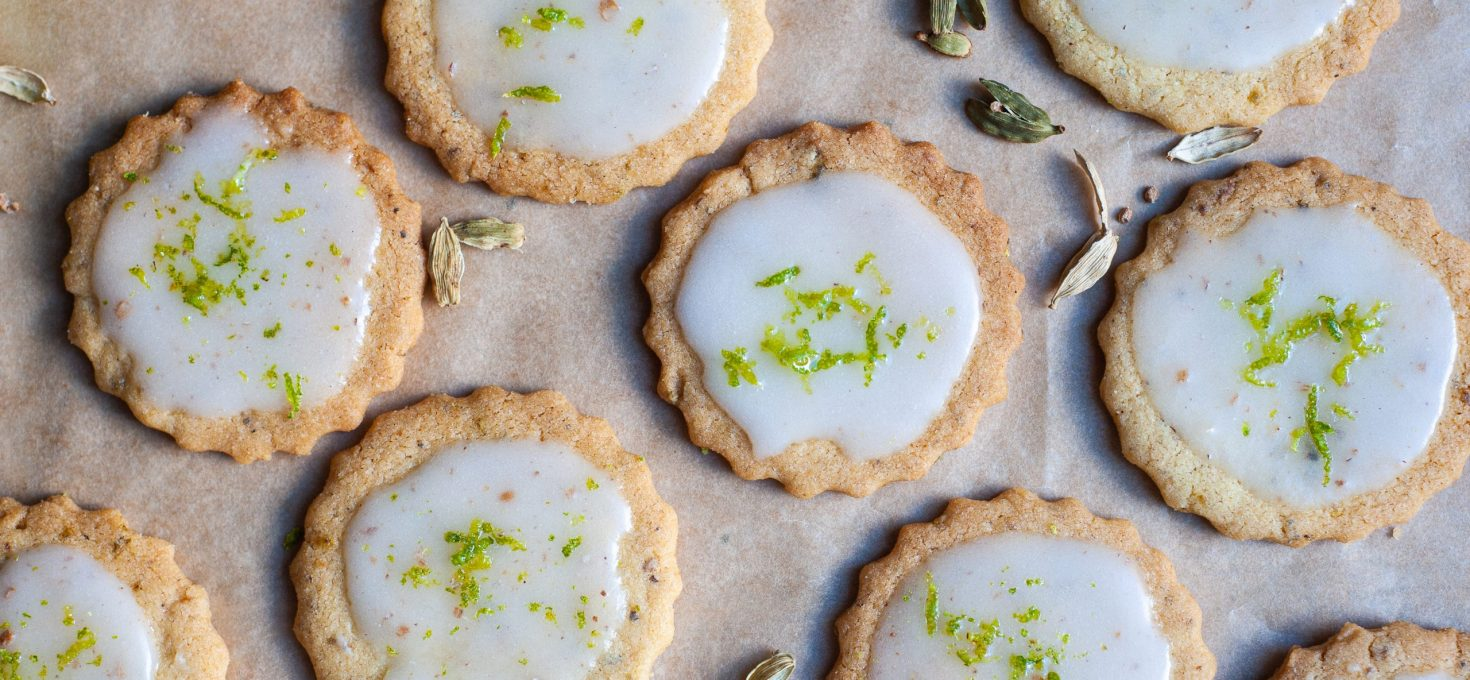 Lime and Cardamom Biscuits
