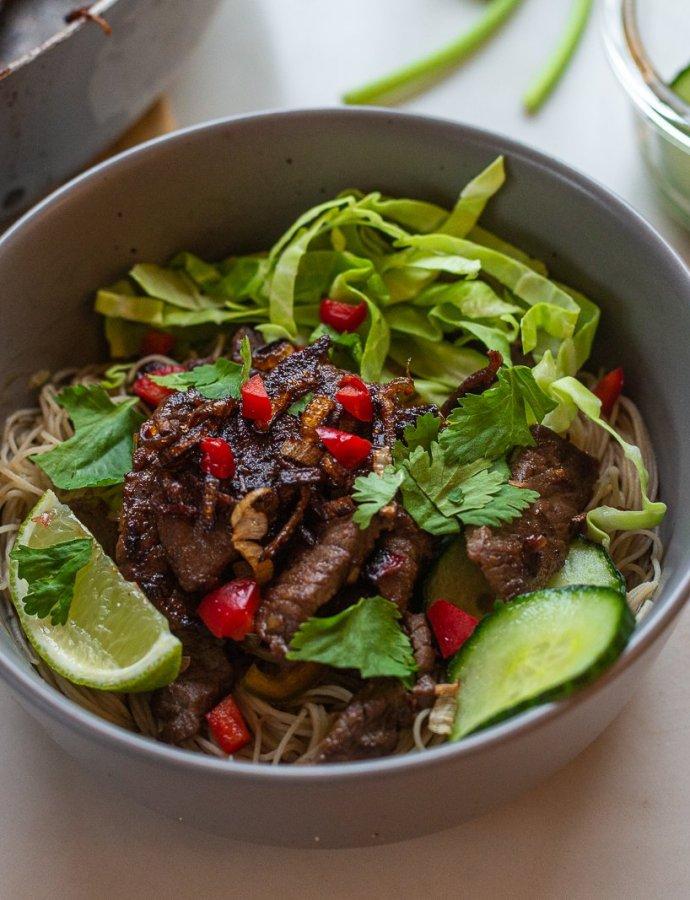 Vietnamese Beef Noodle Bowls a.k.a Bún bò xã ớt