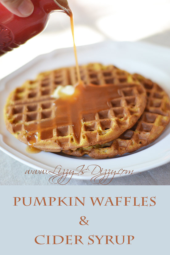 Holy Fall Food, Batman! Pumpkin Waffles with Cider Syrup