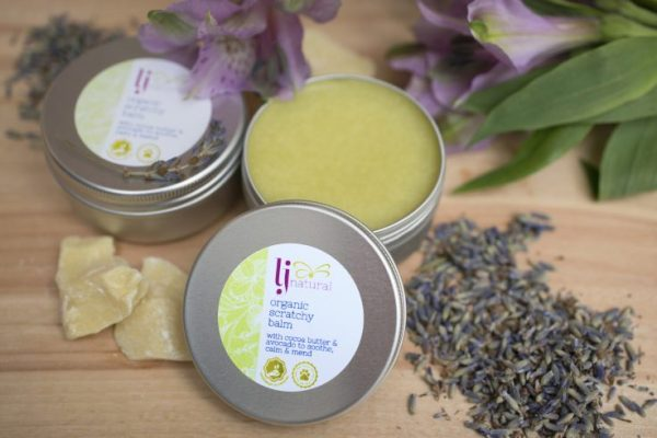 organic scratchy balm handmade aromatherapy beauty products