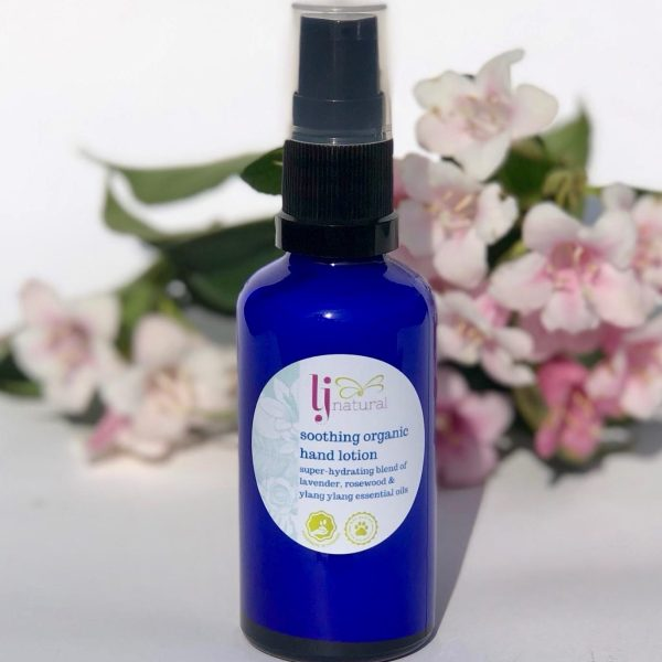 soothing organic hand lotion
