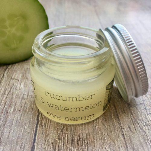 cucumber and watermelon eye serum handmade organic skincare