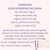 homemade hydrating face balm