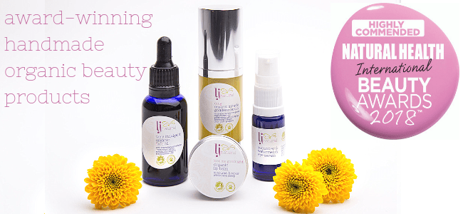 award winning natural organic skincare beauty products