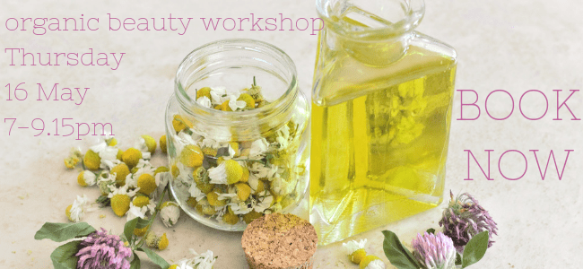 organic beauty workshop natural skincare