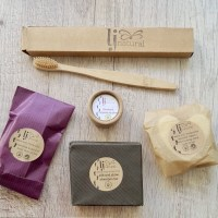 zero waste beauty set handmade organic skincare with zero waste biodegradable paper packaging