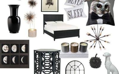 Ebony + Ivory eDesign Board- Interior Design Inspiration
