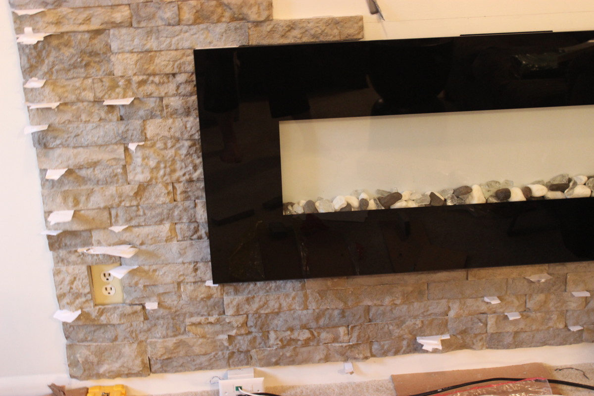 diy airstone veneer brick accent wall ljdecor