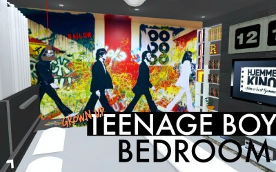 Teen Boy Guitar Room-eDesign Virtual Interior Design Makeover