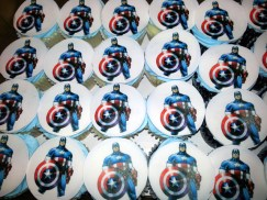 Caption America Cupcakes