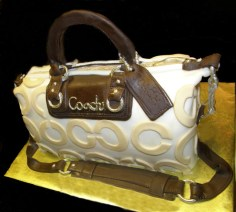 Brown, Gold and Tan Coach Cake