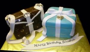 Louis Vuitton Cake W/ Tiffany Gift