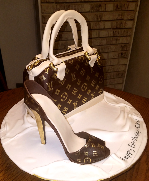 Purse and High Heel Shoe Cakes LJ Sweets Designs