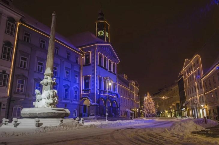 jul og nyttår i Ljubljana