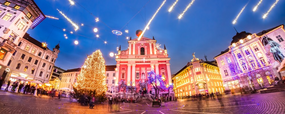 Christmas market in Ljubljana 2017