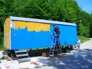 Bauwagen Herrichten 21.5.2005 - 15