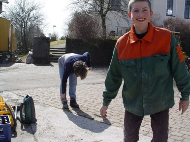 Bauwagen Herrichten 26.03.2005 - 06