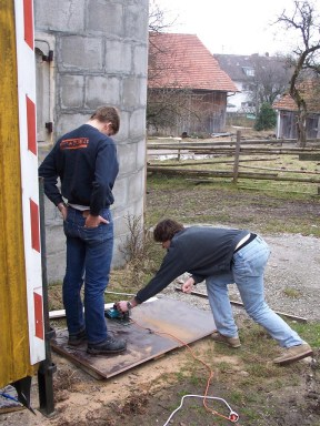 Bauwagen Herrichten 26.03.2005 - 57