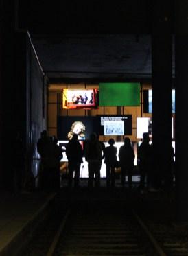 Besucher_innen des Kulturbahnhof