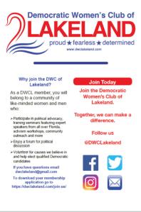 Democratic Women's Club of Lakeland @ Democratic Women's Club of Lakeland