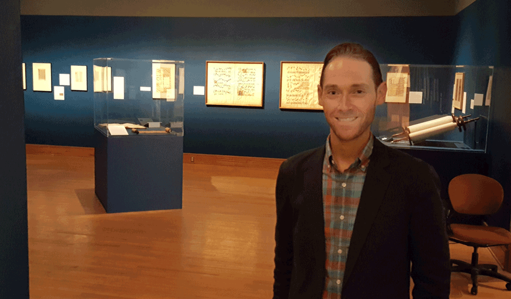 Alex Rich and the Painted Pages exhibition
