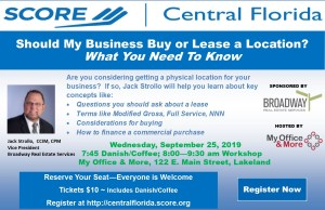 Should My Business Buy or Lease a Location? @ My Office & More