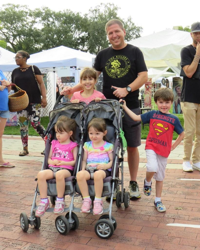 Stevens family, waiting for screen-print T-shirts