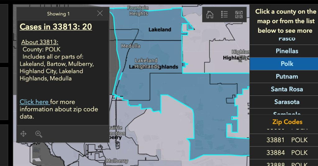 Lakeland S 33813 Zip Code Sees A Steep Rise In Confirmed Covid 19 Cases Lkldnow