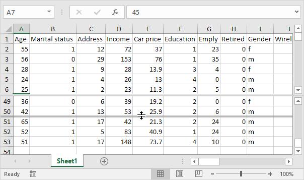 Gunakan Split Bar di Excel